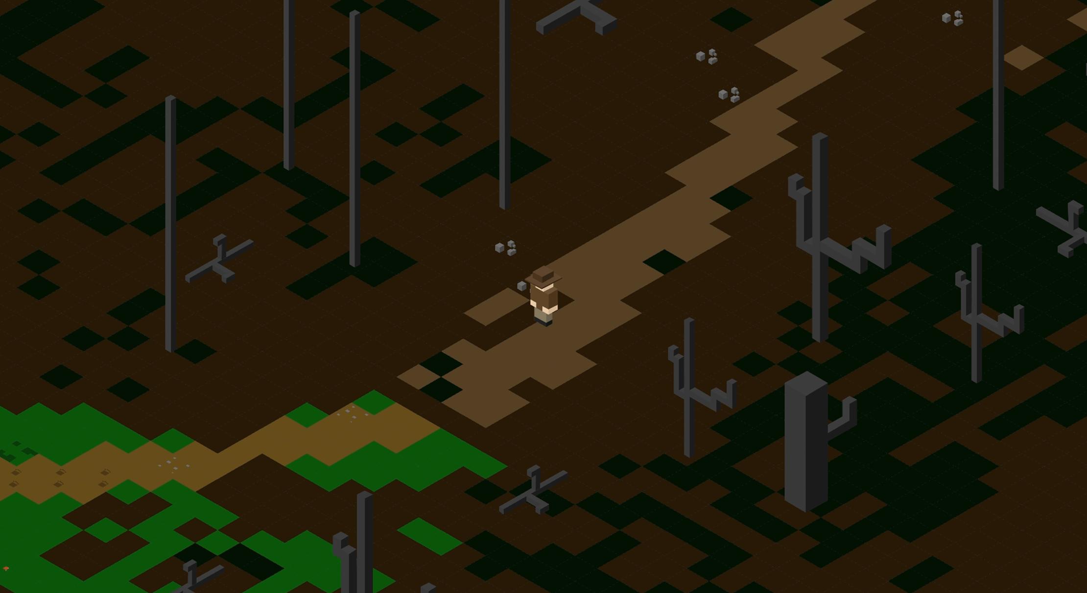 screenshot of jungle platform