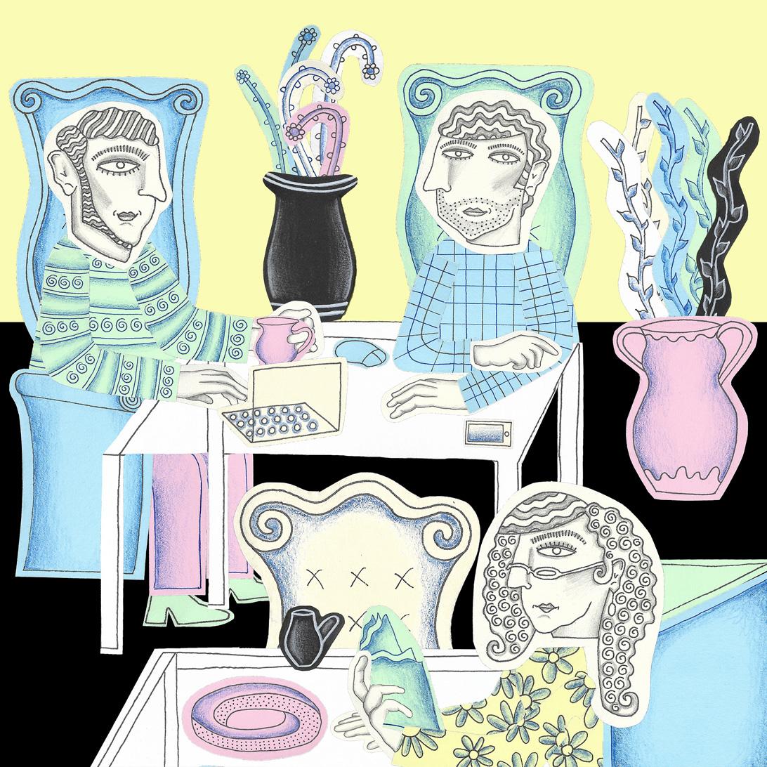 illustration of cafe culture