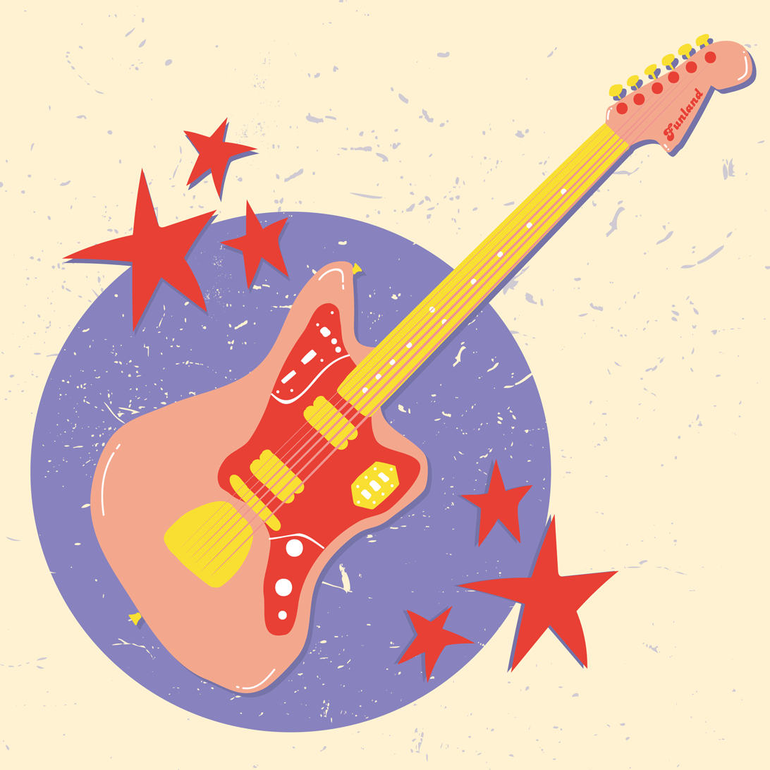 illustration of an electric guitar