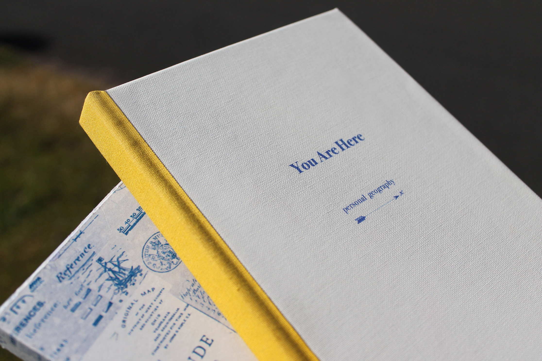 photograph of close-up of cloth bound cover and spine