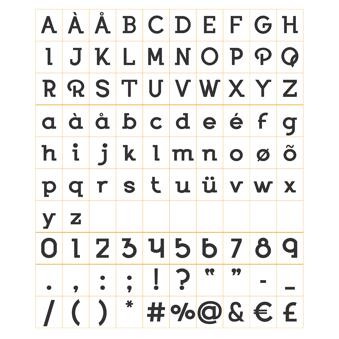 Type specimen graphic