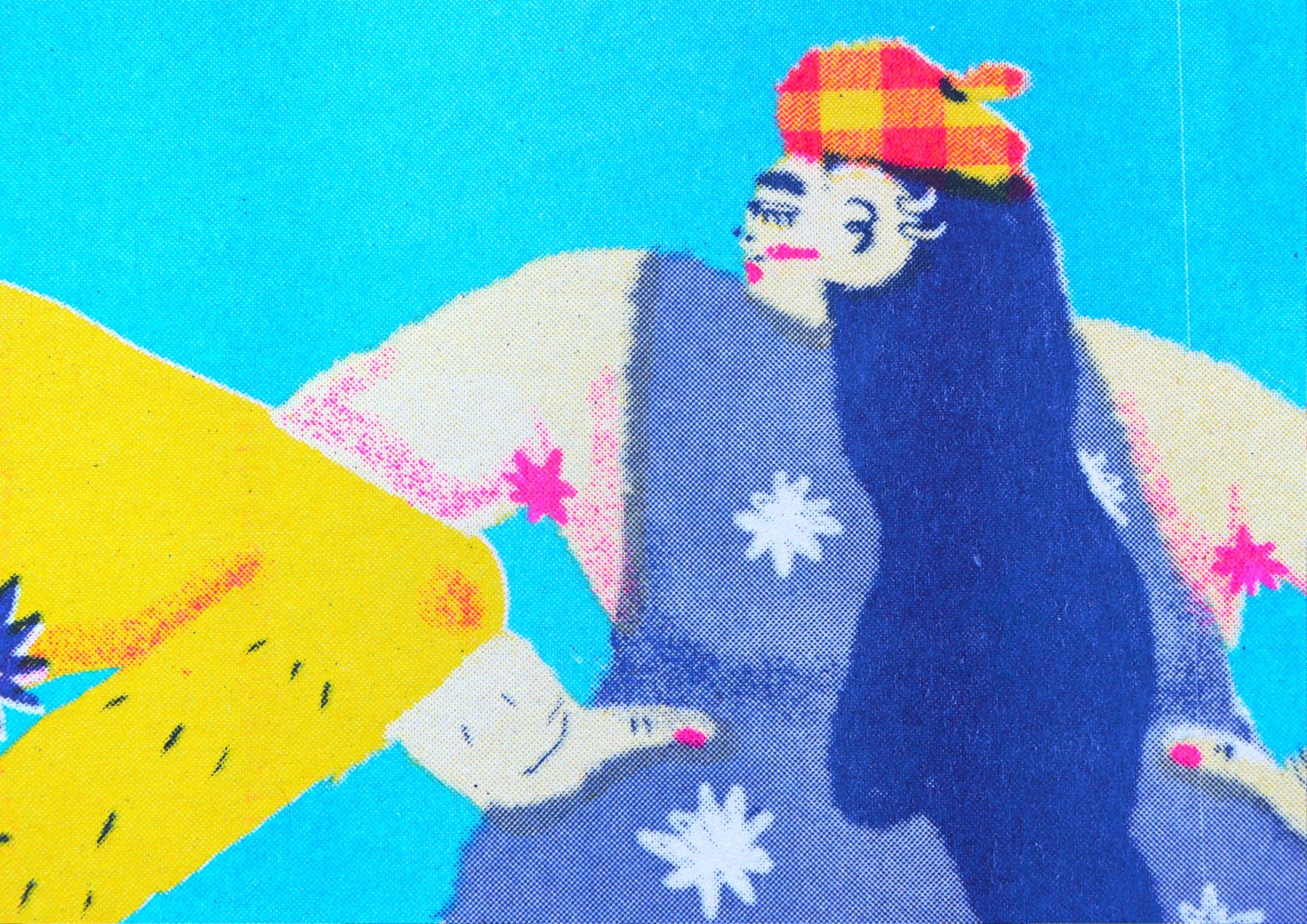 illustration of a punk in a tartan hat