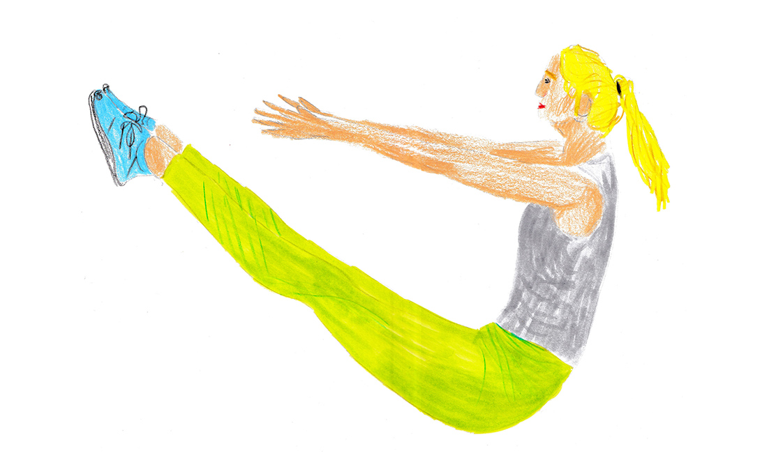 illustration of abs crunch exercise