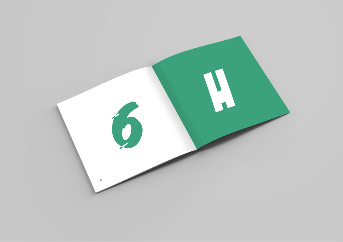 type face and brand publication spread